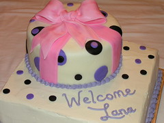 Shower Cake for Baby Lana