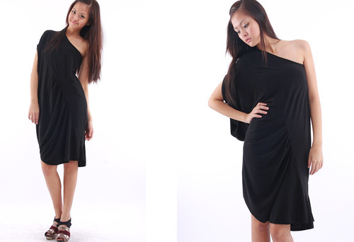 Asymmetrical Toga Dress
