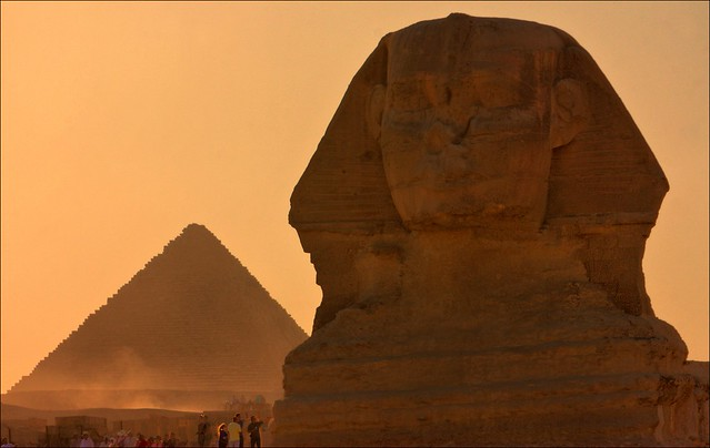 The Sphinx and Pyramid, Giza