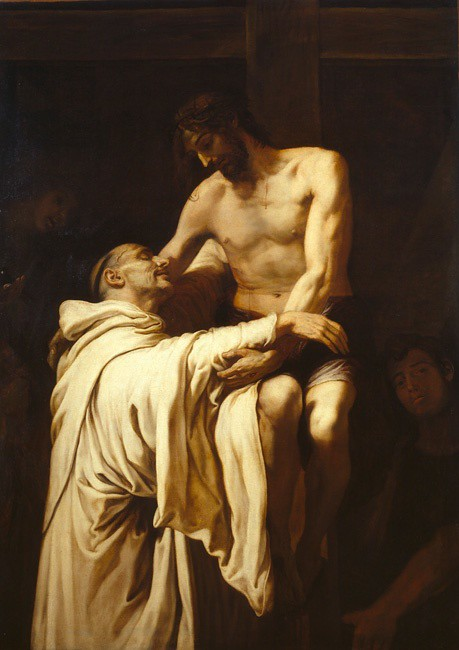 Francisco Ribalta (Spanish, 1665-1628) Christ Embracing Saint Bernard of Clairvaux (c. 1624) Oil on canvas 158 by 113 cm. Museo Nacional del Prado, Madrid