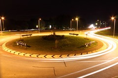 Glinton Roundabout (Andy.Harper) Tags: light night long exposure roundabout trails mcdonalds peterborough trafic glinton