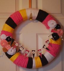 My first yarn wreath!