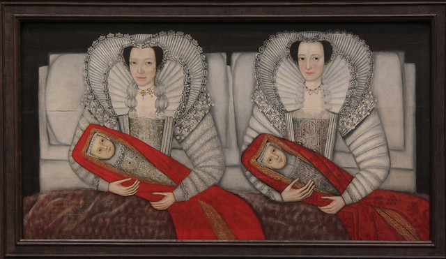 The Cholmondeley Ladies, British School, about 1600-10