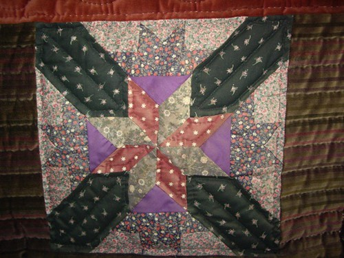 An example of Anna Zilboorg's genius in an intricate quilt square