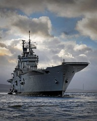 HMS Ark Royal Visits HMNB Clyde for the Final Time (Defence Images) Tags: uk ship argyll aircraft military free equipment helicopter british aircraftcarrier defense carrier defence cvs seaking royalnavy hmsarkroyal faslane invincibleclass