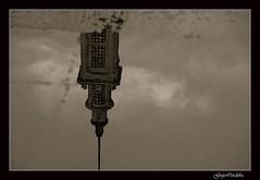 Reflejo/Reflection (Guijo Crdoba fotografa) Tags: espaa reflection tower water rain lluvia spain agua torre asturias nikond70s patio universidad reflejo gijon flickraward blackandwhiteonly flickraward5 guijocordoba