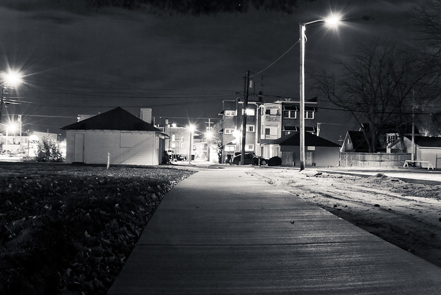 High Resolution Night Photography; Black and White Night Light