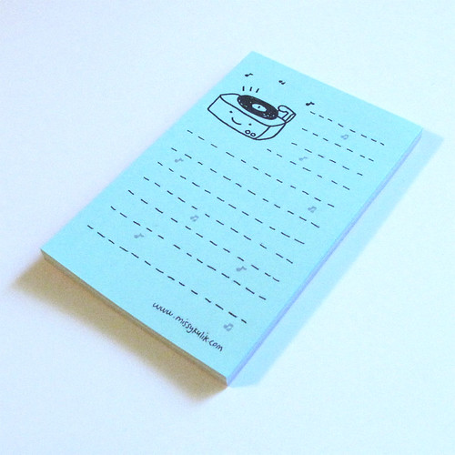 Little Record Player Mini Notepad