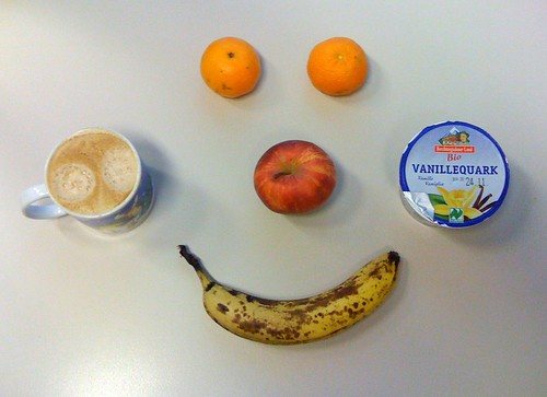 VanilleQuark, Clementinen, Royal Gala & Banane