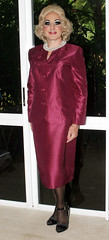 Purple Suit (Christine Fantasy) Tags: cd makeup christine suit blonde transvestite elegant satin transsexual shemale