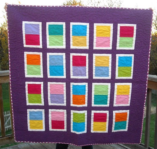 purple/bright charity quilt