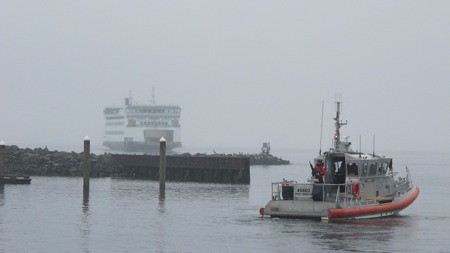 Chetzemoka and US Coast Guard at Keystone on Whidbey Island