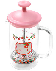 Hello Kitty Strawberry Coffee Press (pkoceres) Tags: pink kitchen glass coffee japan strawberry tea hellokitty sanrio pot tableware dishware coffeepress       boughtonebay    hellokittystrawberry