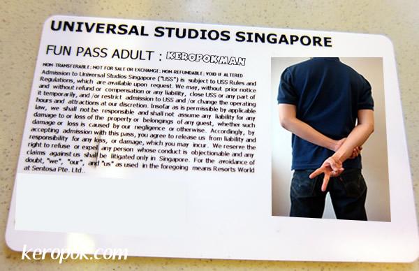 Universal Studios Singapore Fun Pass
