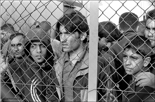 10-Oct-2010: Immigrants - refugees in the Filakio detention center, Evros, Greece.