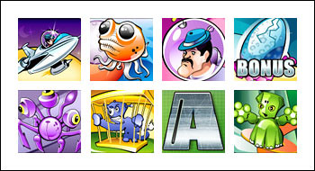 free Alien Hunter slot game symbols