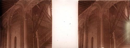 Escalera renacentista del Museo de Santa Cruz en los años 20. Fotografía de Ángel del Campo Cerdán