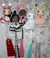 chocolates and candy (the poppy tree) Tags: christmas girls holiday flower art girl yummy doll dolls candy sweet lace chocolate mint sugar jelly hanging lollipop candycane peppermint antennas starlight thepoppytree originalbuttons