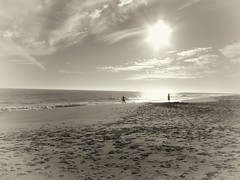 Day at the Beach (imagesbyjohn) Tags: white black beach water sepia clouds sand may cape capemay toning