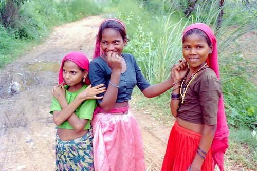 Girls at Indian village
