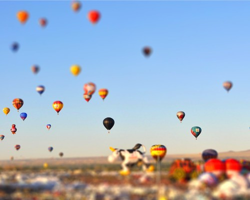 balloon fiesta tiltshift - 8x10