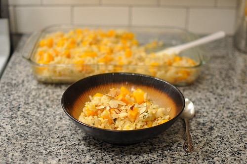 BAKED RISOTTO WITH BUTTERNUT SQUASH AND SAGE