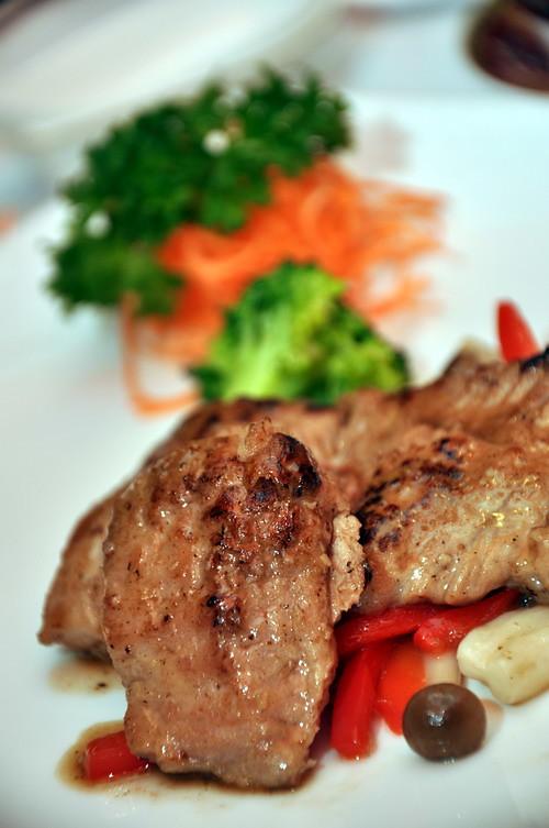 Pan fried fillet of Kurobuta pork
