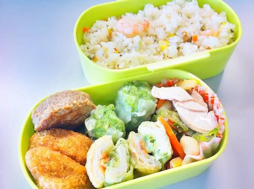 今日のお弁当 No.60 - エビピラフ