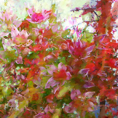 Herbstfreude (Tedje51 - off) Tags: flowers autumn composition digitalart abstraction pse artisticphotos sedumspectabile theart herbstfreude hylotelephium vetkruid awardtree magicunicornverybest magicunicornmasterpiece art2010