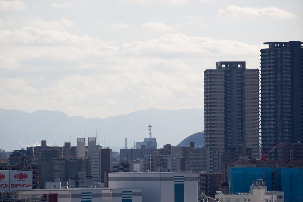 View over Osaka