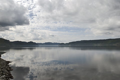Norway (Ben124.) Tags: summer sky cold reflection nature water norway clouds landscape view fjord