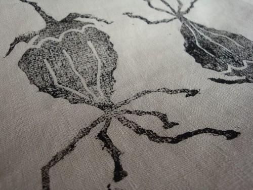 succulent on linen