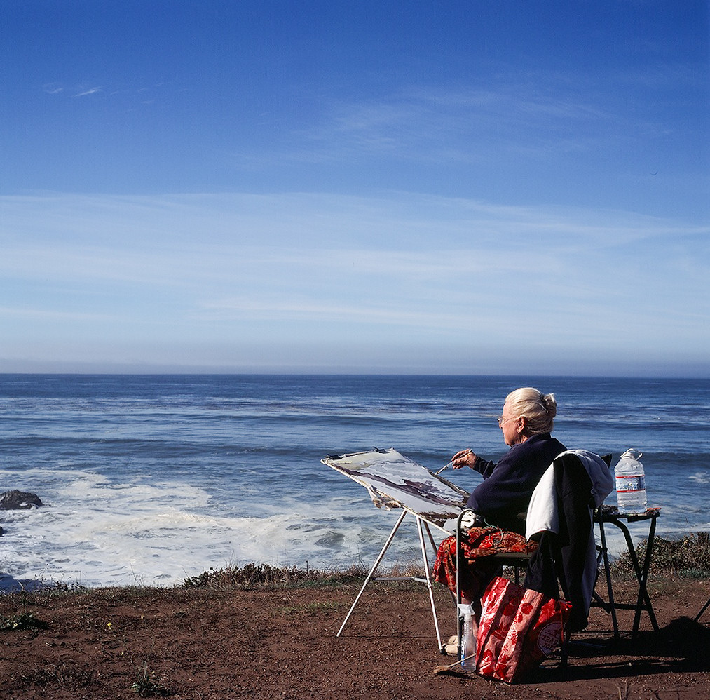 painter by the ocean, california