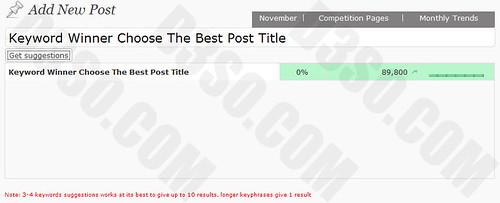 Keyword Winner Post Title