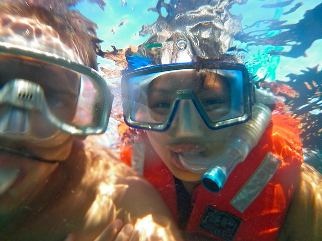 Me & Frenchie Snorkeling
