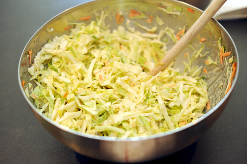 cole slaw with wasabi mayonnaise