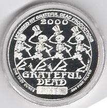 Grateful Dead silver round