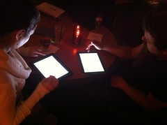 iPads and beer on every table top
