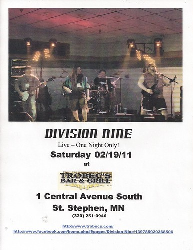 02/19/11 Division Nine @ Trobec's, St. Stephen, MN
