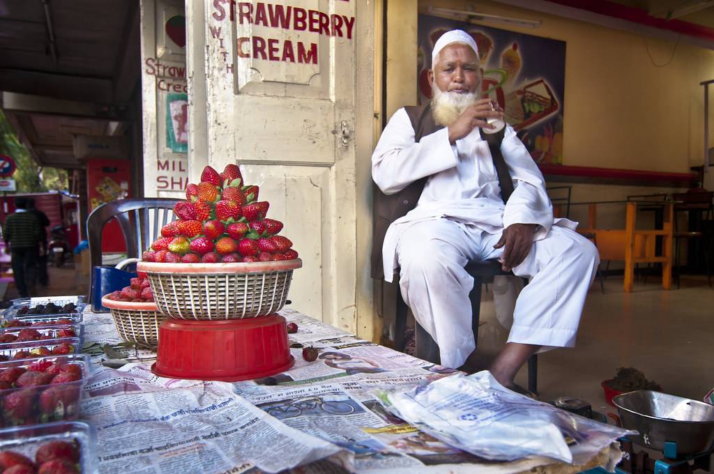 Strawberry and Cream - Portrait of a Strawberry Seller in Panchagani