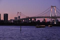 Rainbow Bridge #5 ~twilight~ -@- (mukarin) Tags: bridge japan night tokyo twilight   odaiba nightview  rainbowbridge    18200mm d90 afsdxnikkor18200mmf3556gedvrii