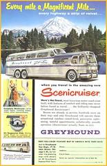 Alte Werbung - Greyhound Scenicruiser Bus 1954 (www.nbfotos.de) Tags: greyhound bus vintage ads advertising ad 1954 advert werbung scenicruiser