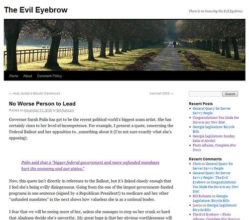 New Evil Eyebrow
