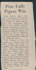 Stirling Pipe Band Pine Falls Newspaper Articles-22 (Hugh Peden) Tags: stirling pipe band pine falls manitoba major william bill macleod
