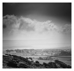 Back O' The Wight (frattonparker) Tags: nikond810 tamron28300mm raw lightroom6 vertorama monochrome isleofwight btonner frattonparker mist fog haar
