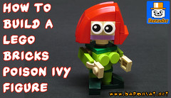 Brick POISON IVY figure. (baronsat) Tags: lego poison ivy dc gotham batman movie dark knight chibi brick figure howto build instructions toys