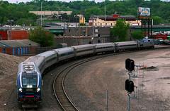 Amtrak from Ft. Scott? (Jeff Carlson_82) Tags: amtk amtrak kc mo missouri ftscottsub bnjunction bnjct wye riverrunner siemens charger 4611 sc44 kansascity train railfan railroad railway passenger test new fresh