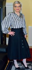 Ingrid024125 (ingrid_bach61) Tags: pleatedskirt faltenrock buttonthrough durchgeknöpft blouse