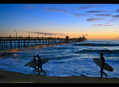 Going Home - Imperial Beach Beach Pier Sunset (Sam Antonio Photography) Tags: imperialbeach pier ocean sunset summer sport silhouette water surf surfing surfboard beach surfer recreation people travel sea tropical nature fun vacation board lifestyle colorful holiday sun sand wave male tourism adventure sky men active pacific healthy man outdoor watersport idyllic seashore walking warm weather watersports scenic shorebreak tranquil standing beautiful samantoniophotography