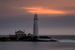 ZENITH OVER MARY (lynneberry57) Tags: stmaryslighthouse whitleybay uk weather clouds colour pink sunrise dawn canon 70d leefilters nature light tide longexposure island landscape seascape coast